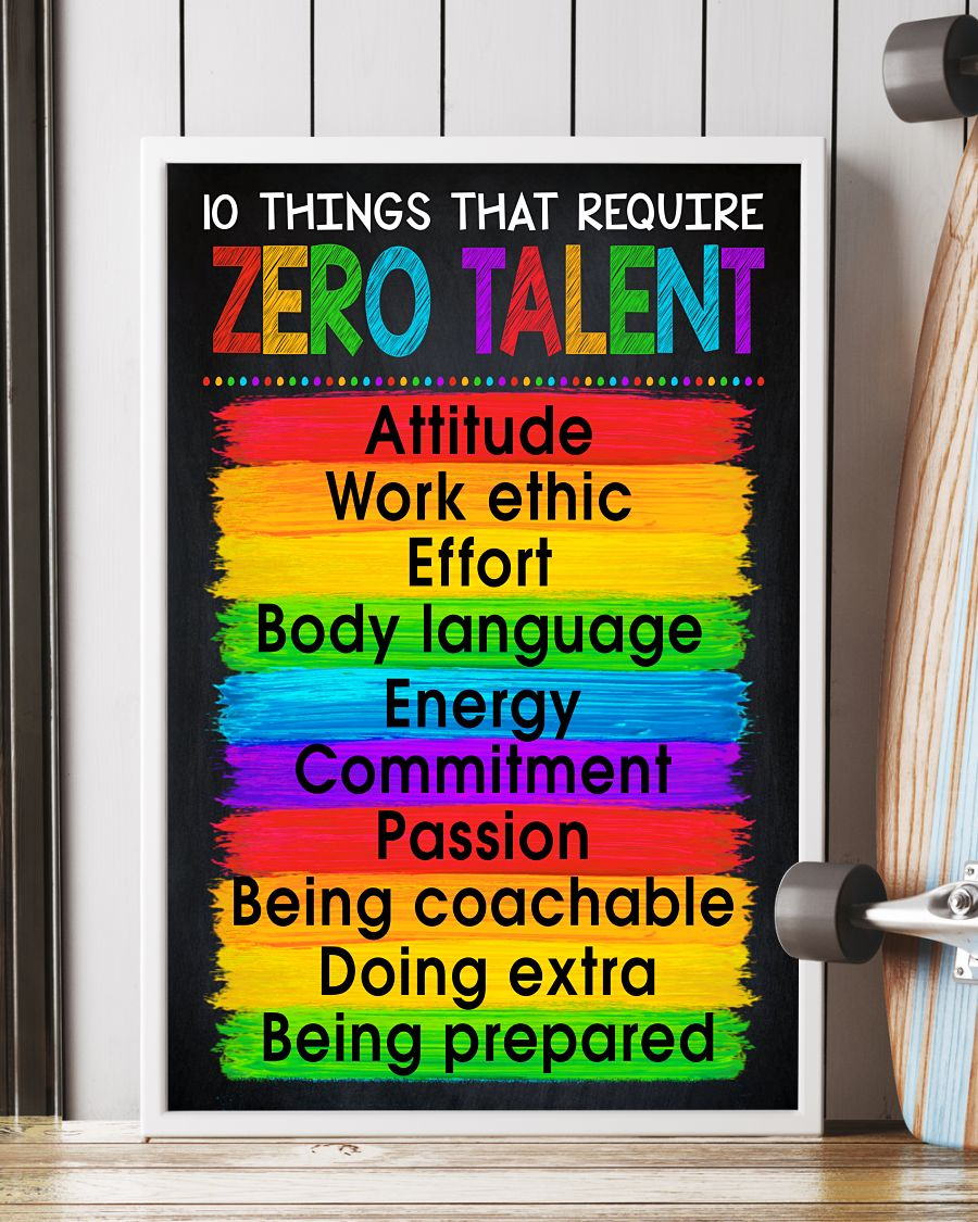 10 Things That Require Zero Talent Posterx