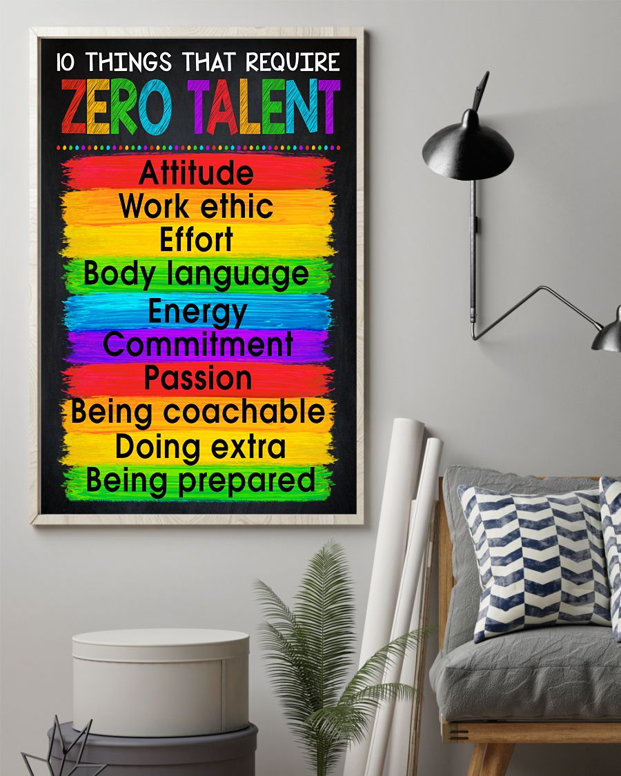 10 Things That Require Zero Talent Posterz