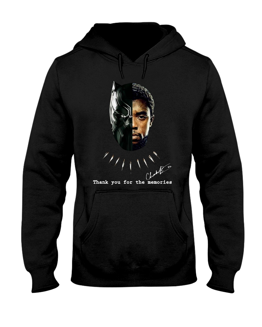 Black Panther Chadwick Boseman Thank you for the memories Hoodie