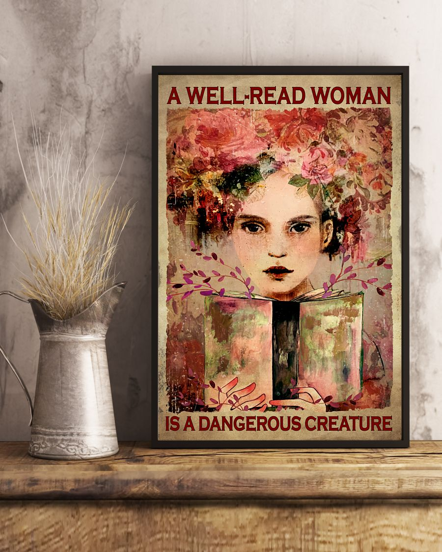 A Well Read Woman Is A Dangerous Creature Posterx