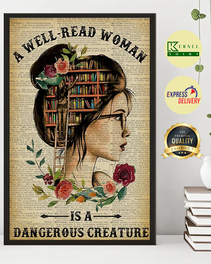 A well-read woman is a dangerous creature poster-1