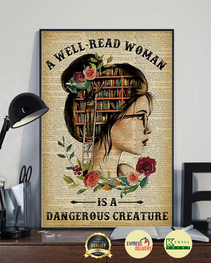 A well-read woman is a dangerous creature poster 3