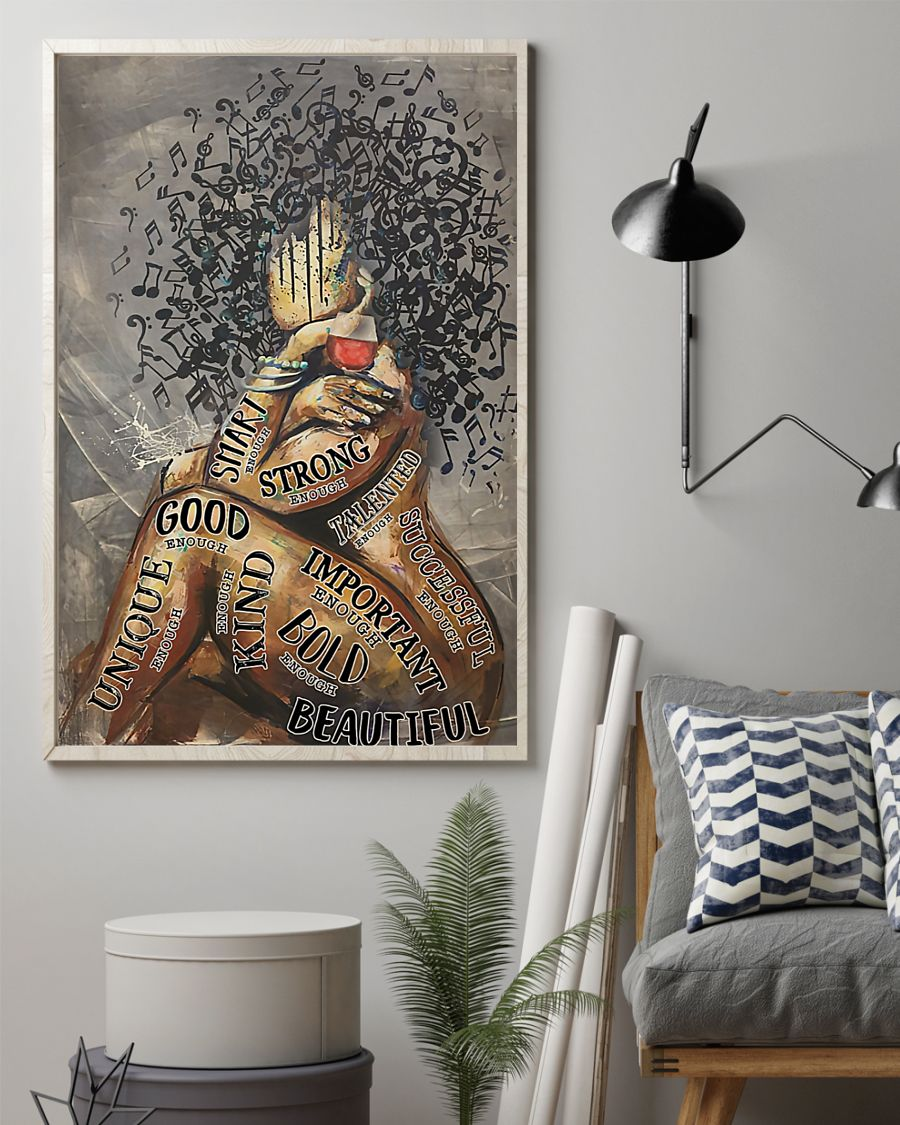 Afro Girl Music And Wine I Am Posterx