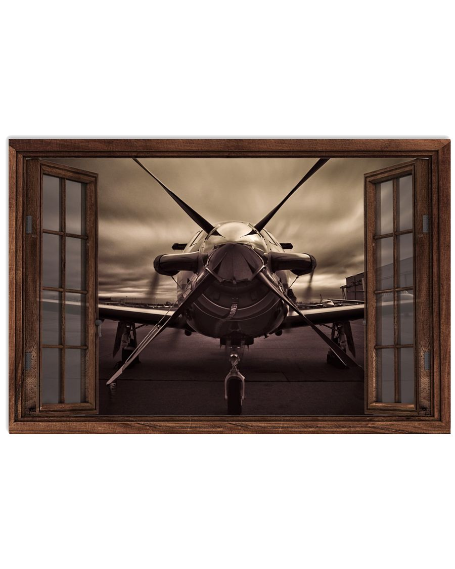 Aircraft Front Window Poster