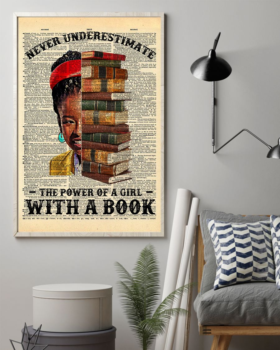 Amanda Gorman Never underestimate The Power Of A Girl With A Book Posterz