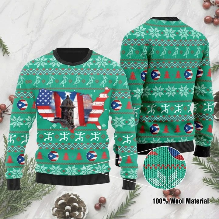 American Puerto Rico Ugly Christmas Sweater