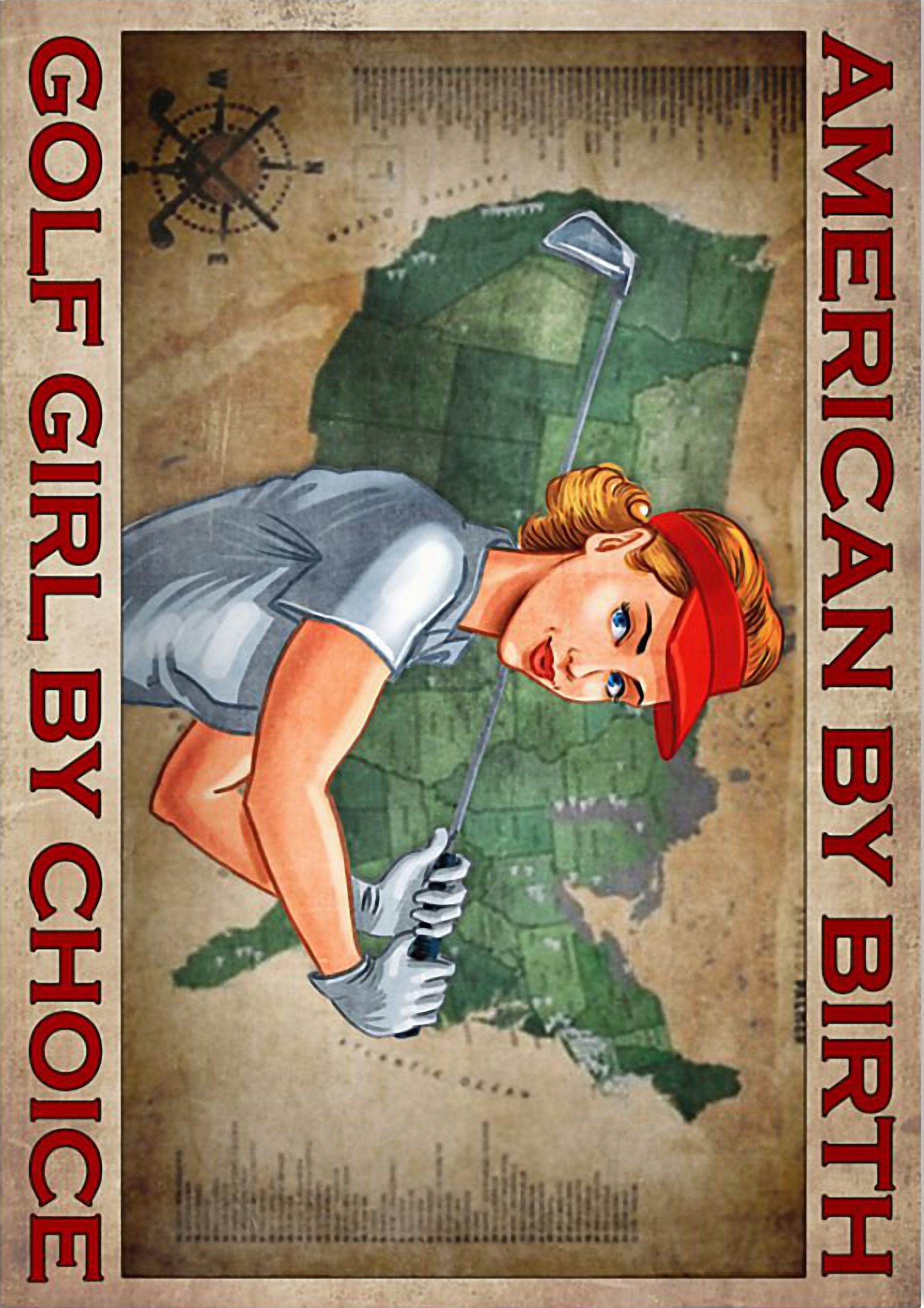 American by birth golf girl by choice poster