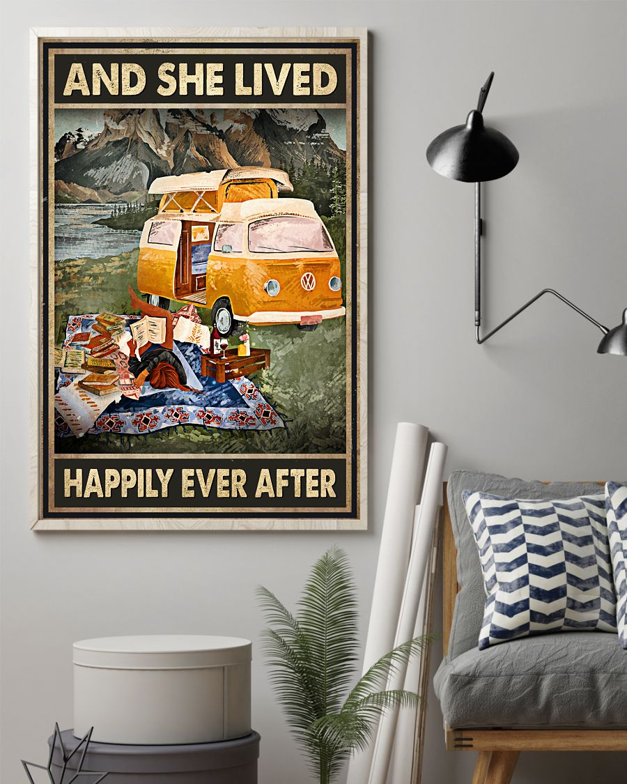 And she lived happily ever after Camping poster2