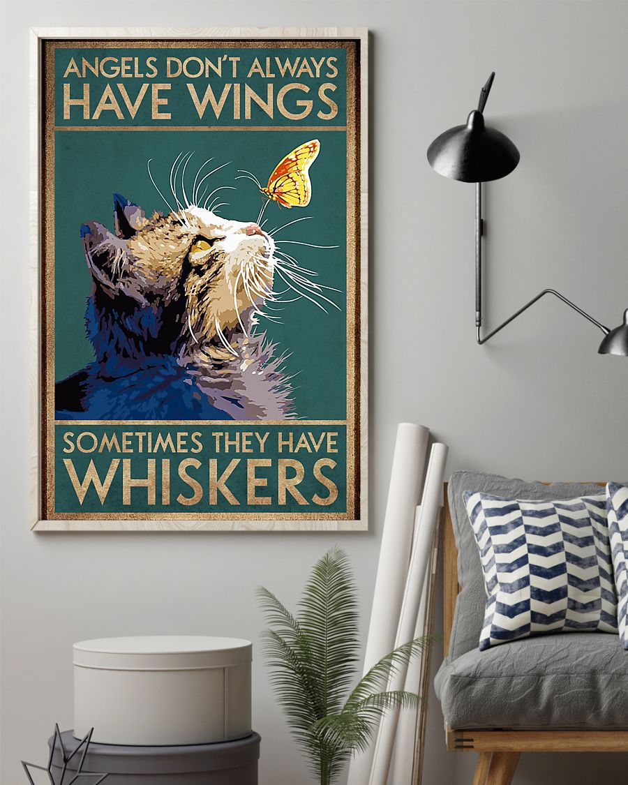 Angels Don't Alway Have Wings Vertical Poster