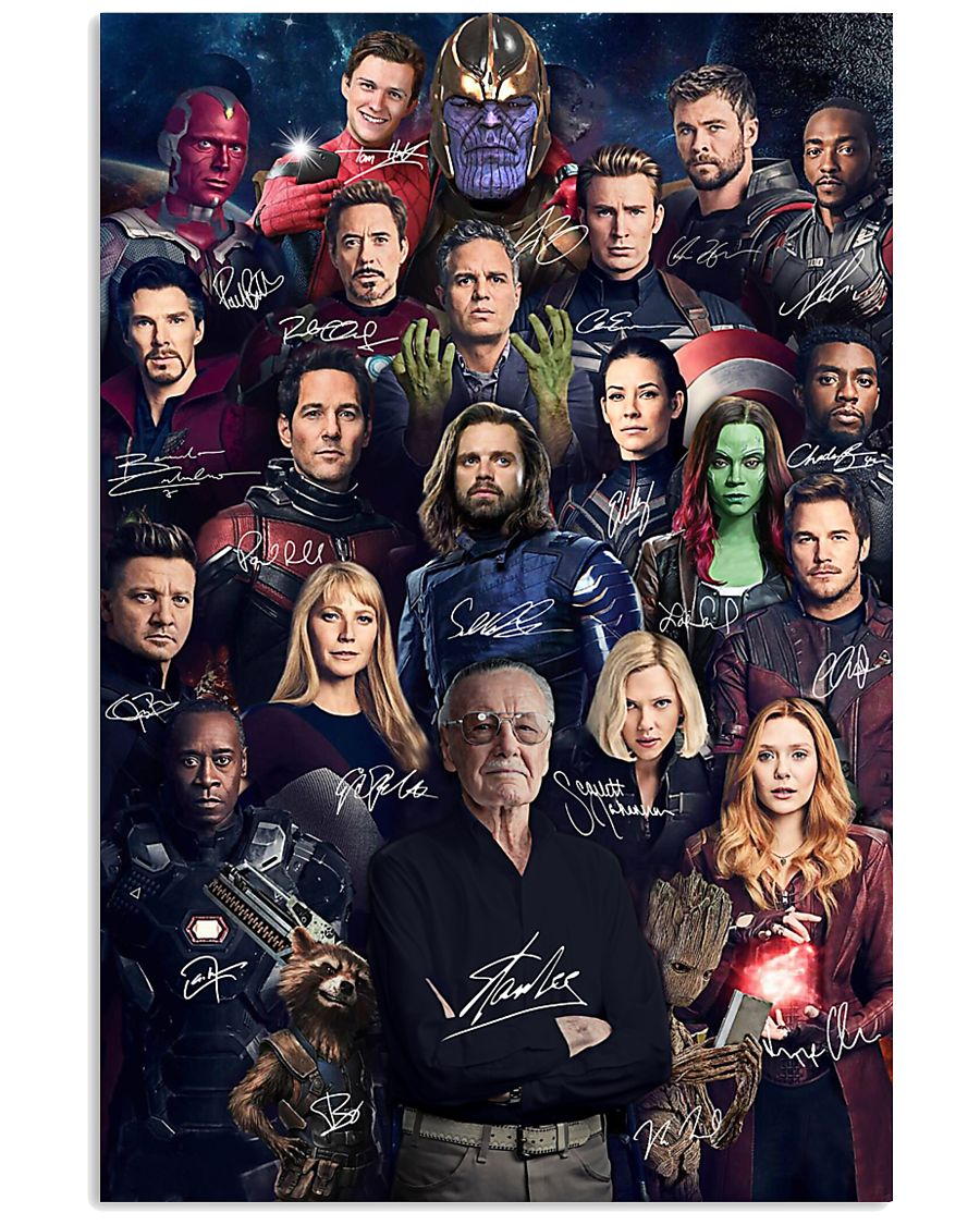 Avengers actor and signature poster
