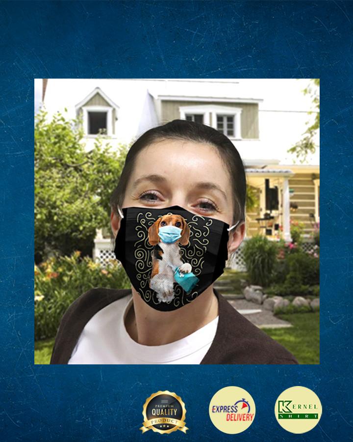 Beagle Dog Wash Your Hand Quarantined 2020 face mask