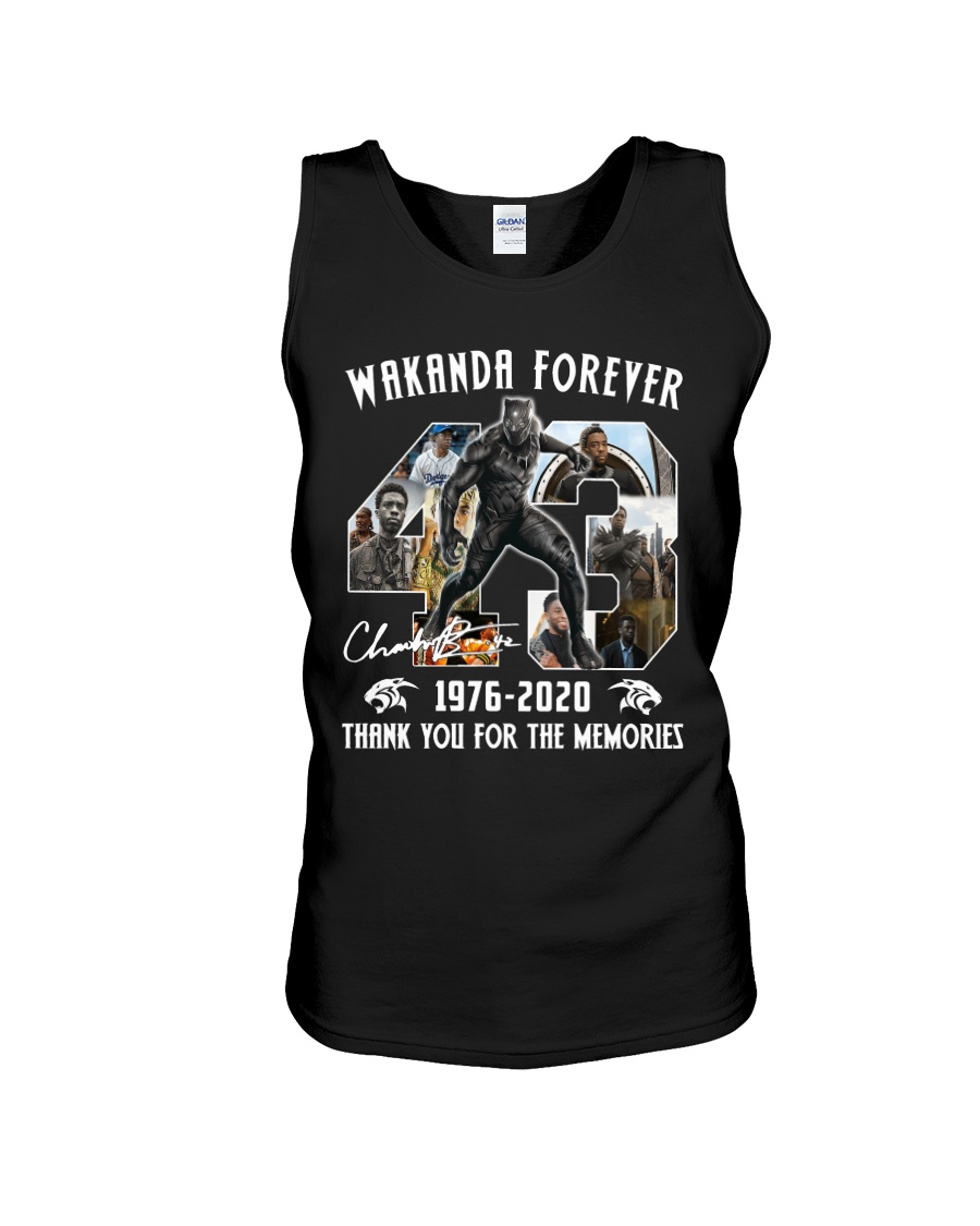 Black Panther Wakanda Forever Thank For The Memories Tank top