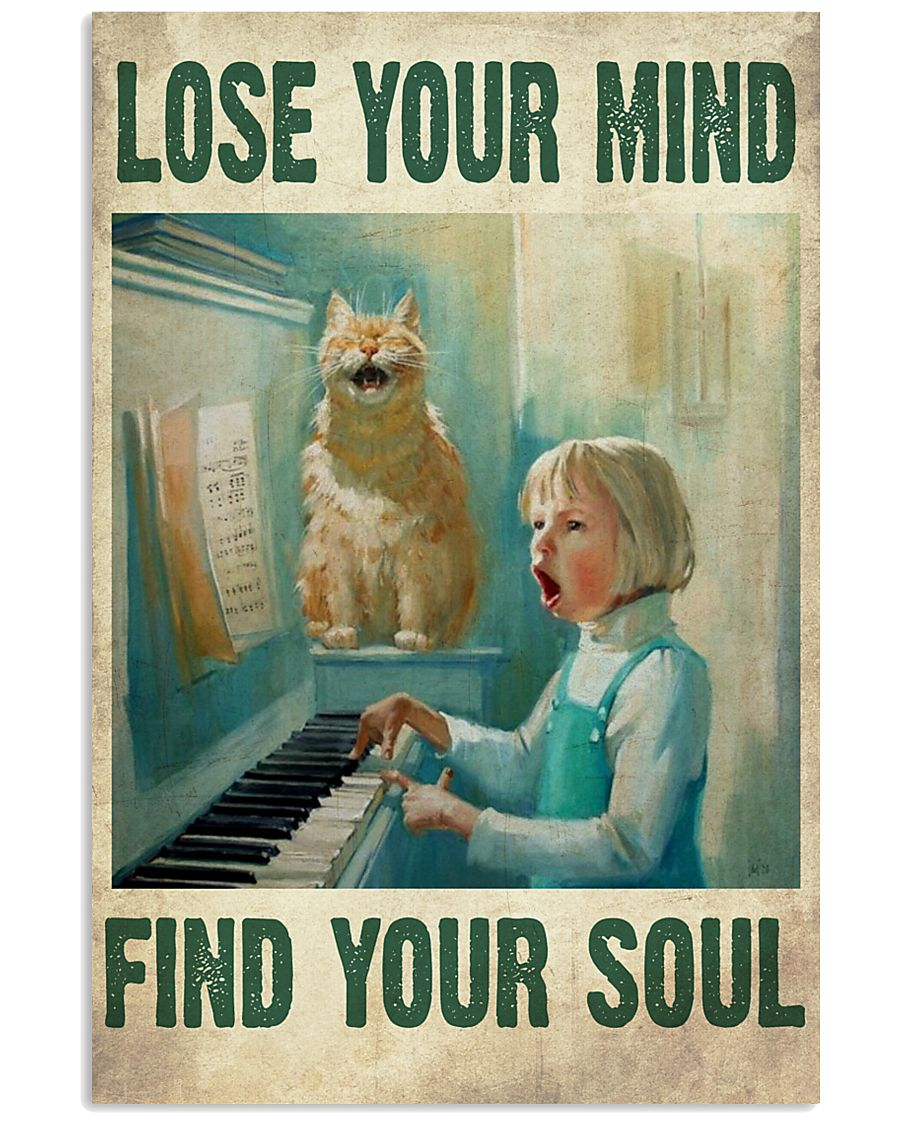 Cat Close you mind find your soul Poster