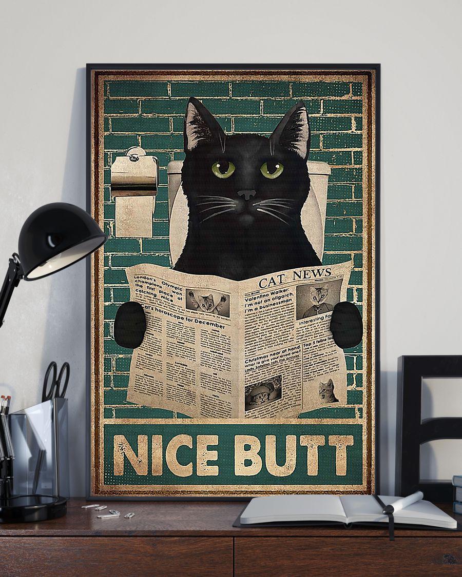 Cat Halloween Nice Butt Poster