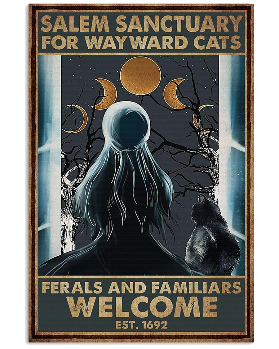 Cat Halloween Salem Sanctuary For Wayward Cats Poster