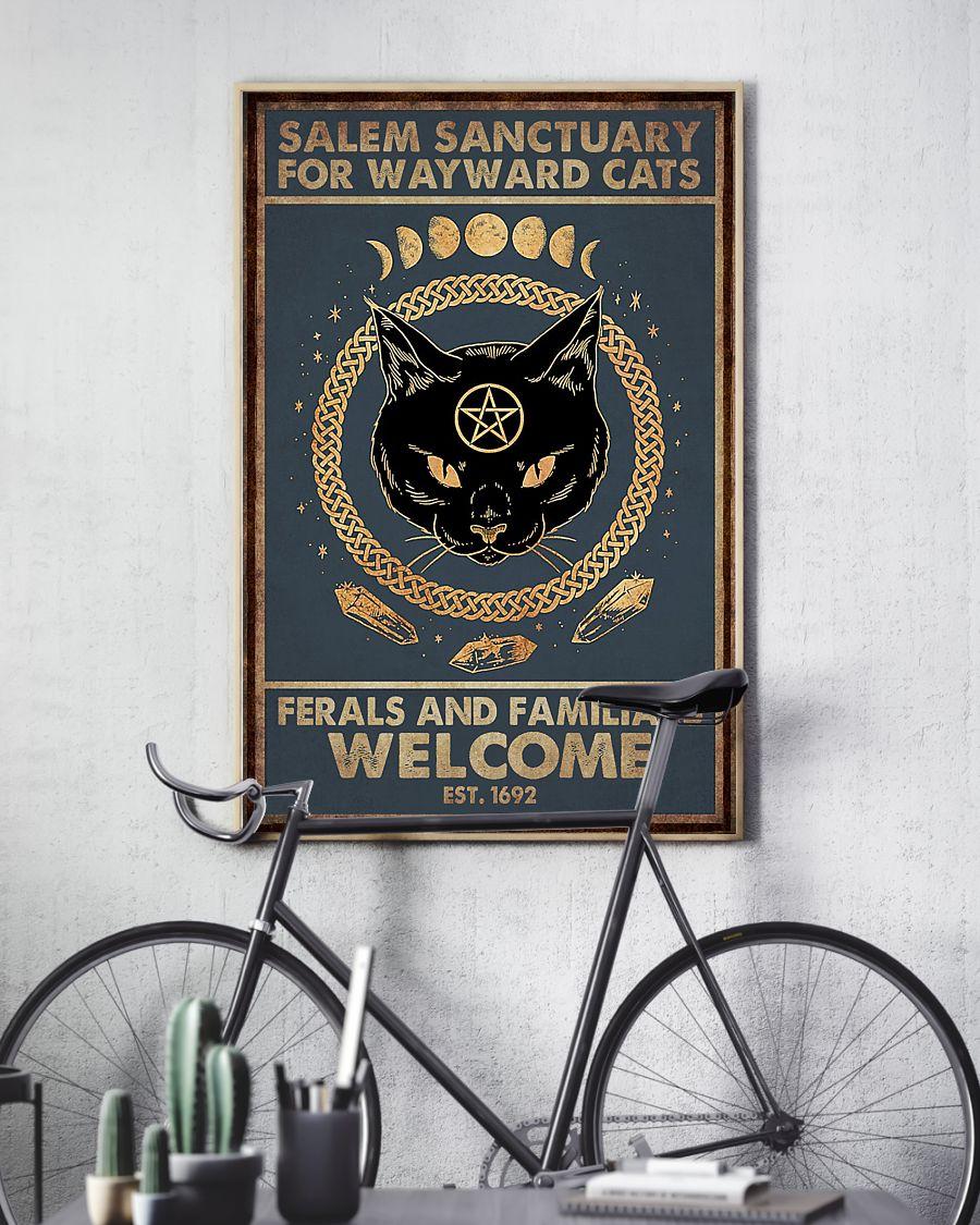 Cat Halloween Salem Sanctuary Poster