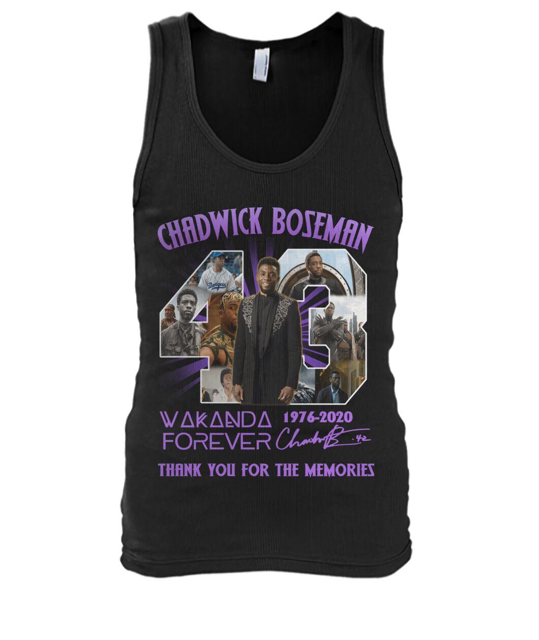 Chadwick Boseman Wakanda Forever Memories Tank top