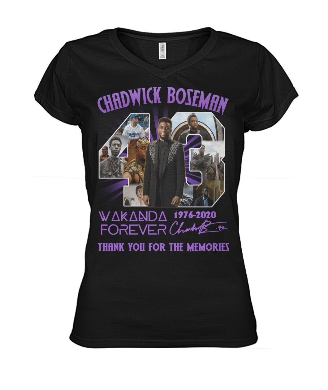 Chadwick Boseman Wakanda Forever Memories Women V-neck