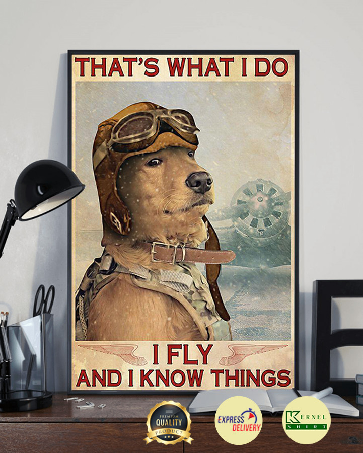 Dog that's what I do I fly and I know things poster