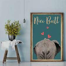 Elephant Nice butt Poster