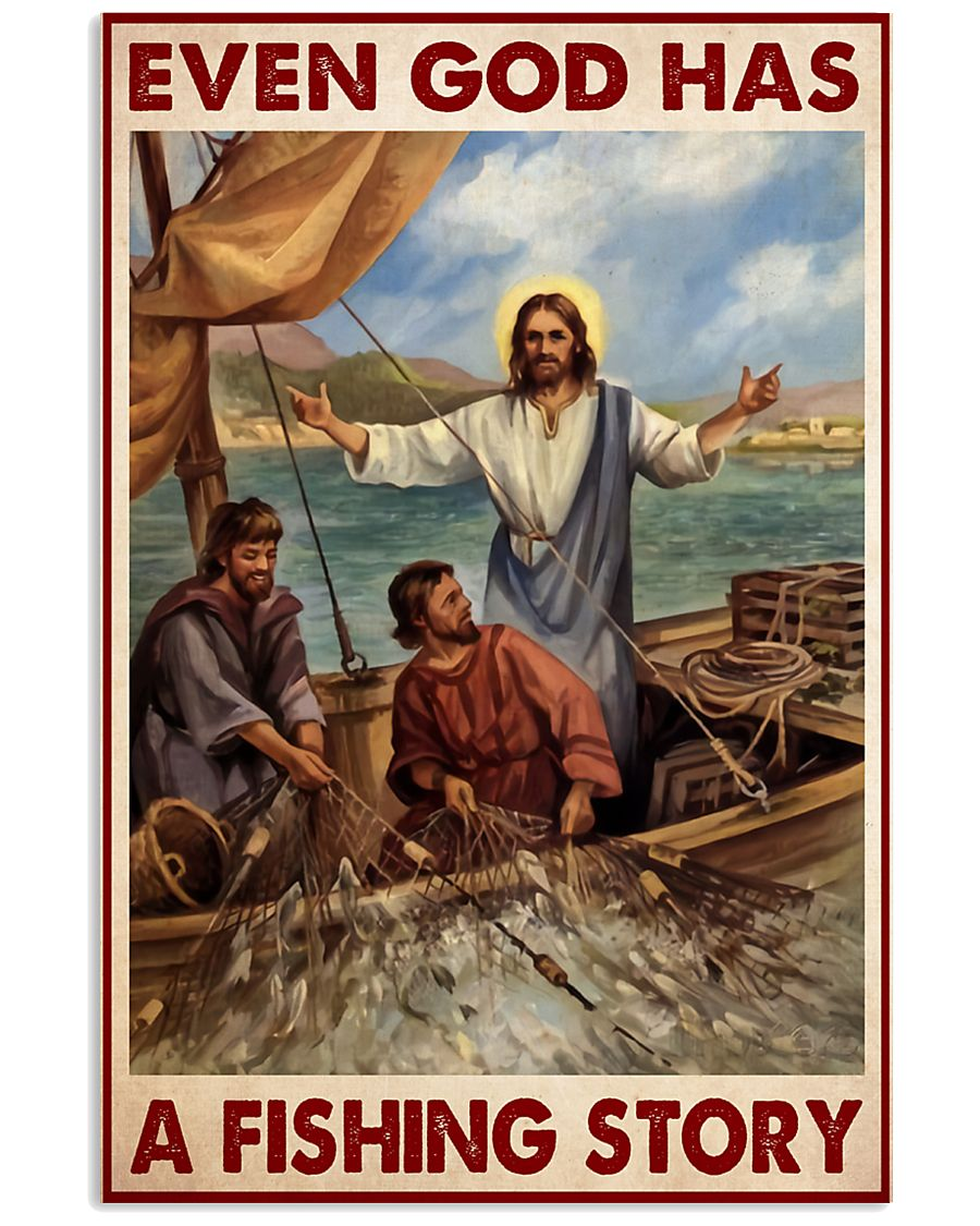 Even God has a fishing story poster