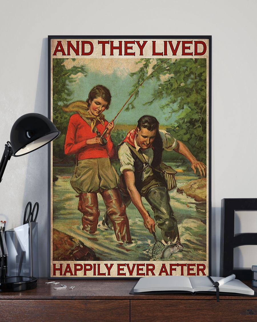 Fishing Couple And They Lived Happily Ever After Poster