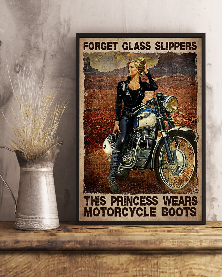 Forget The Glass Slippers This Princess Wears Motorcycle Boots Posterx
