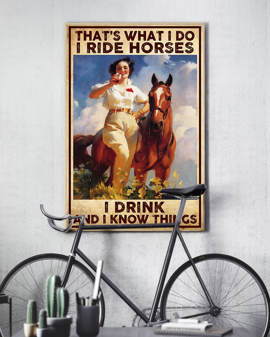 Girl That what i do i ride horses i drink and i know things poster