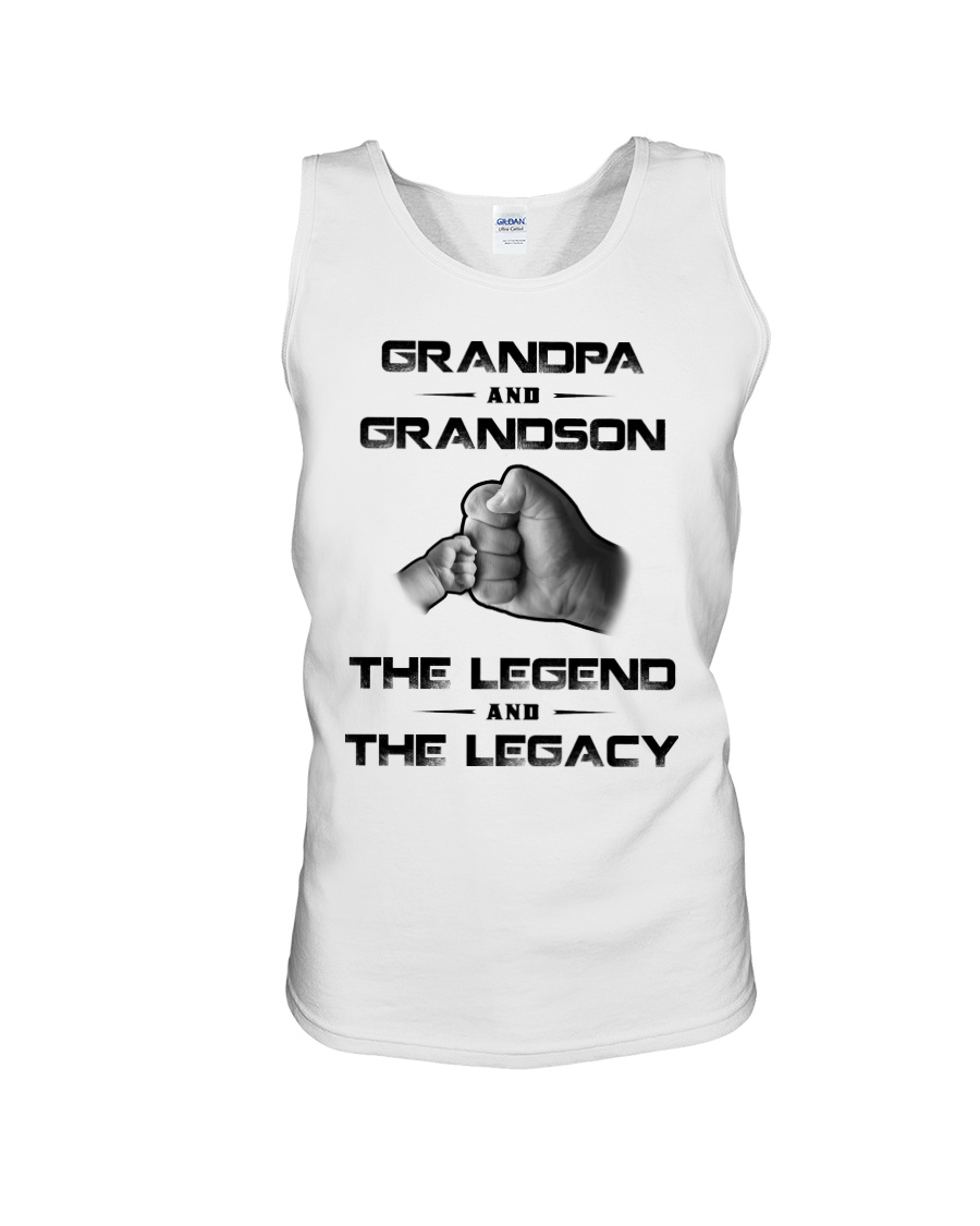 Grandpa And Grandson The Legend And The Legacy Tank top