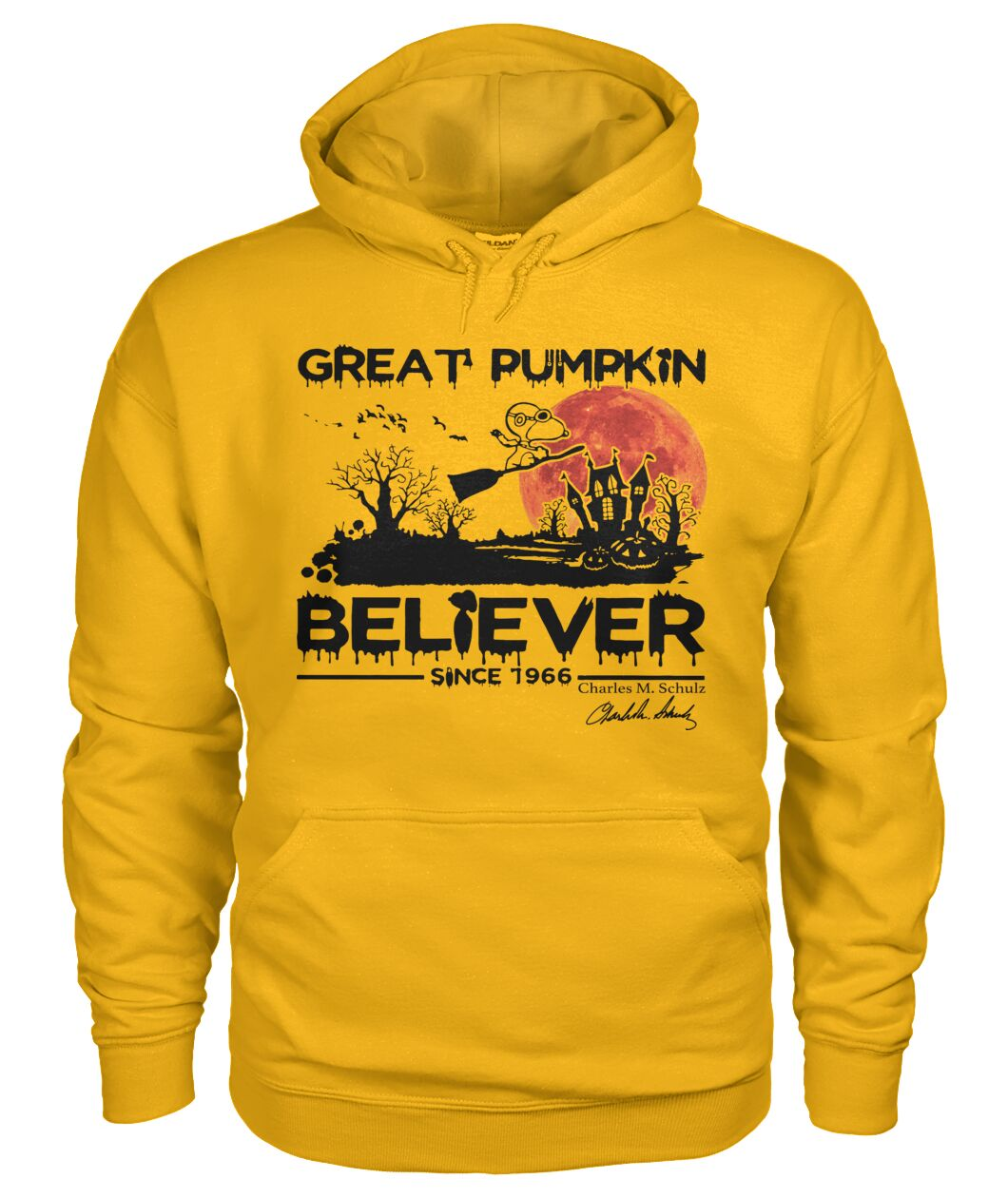 Great Pumpkin Believer 1996s Fans Hoodie