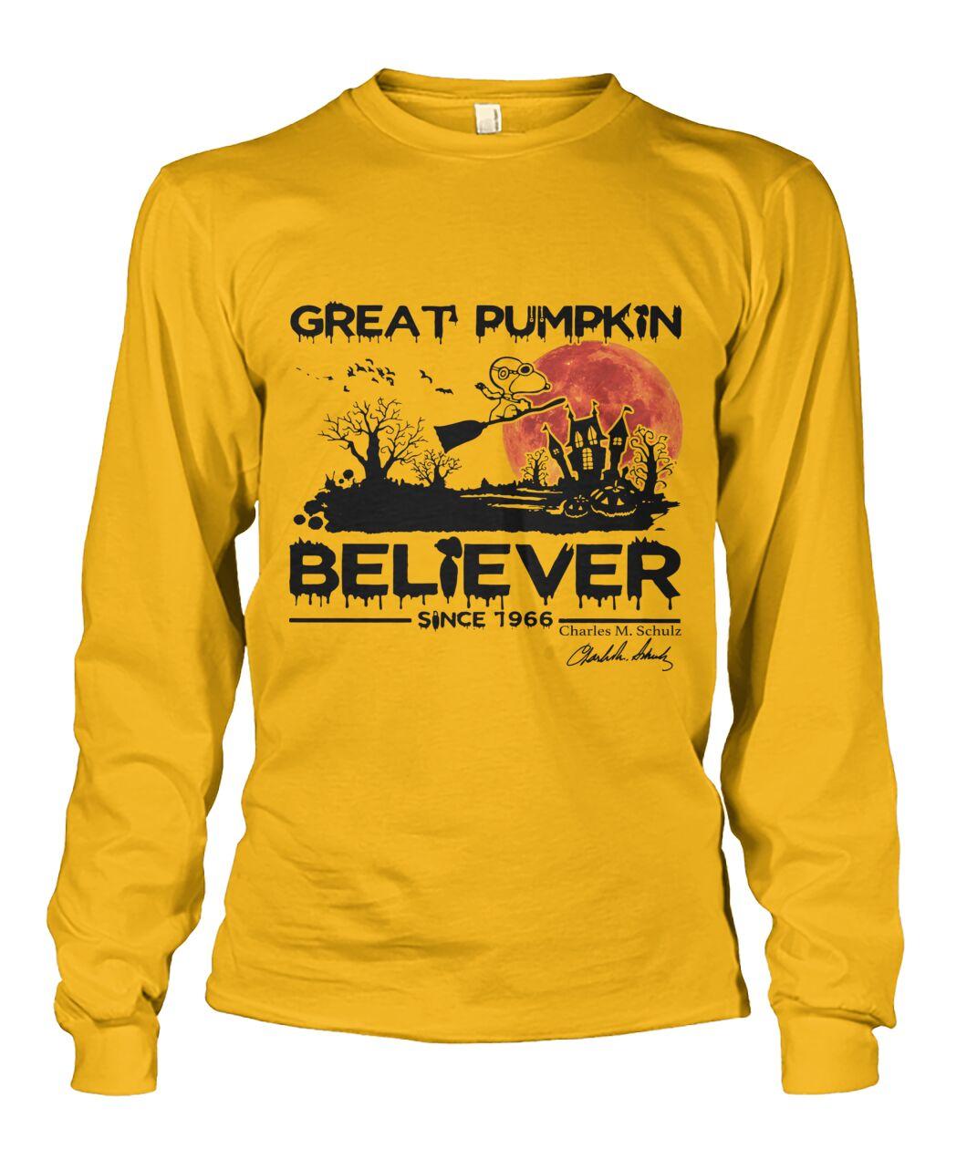 Great Pumpkin Believer 1996s Fans Long Sleeve
