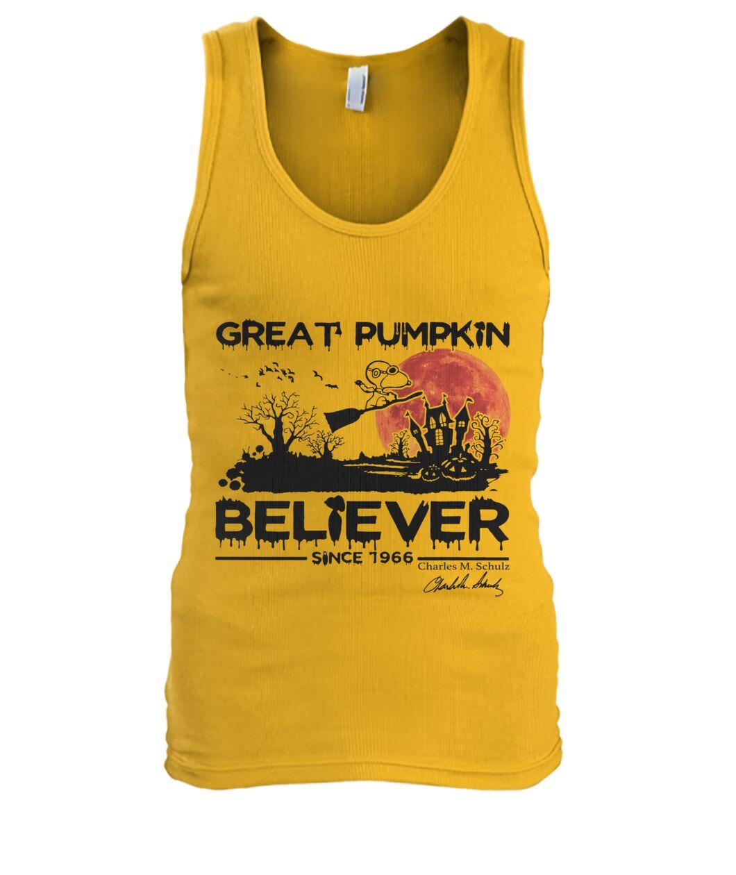 Great Pumpkin Believer 1996s Fans Tank top