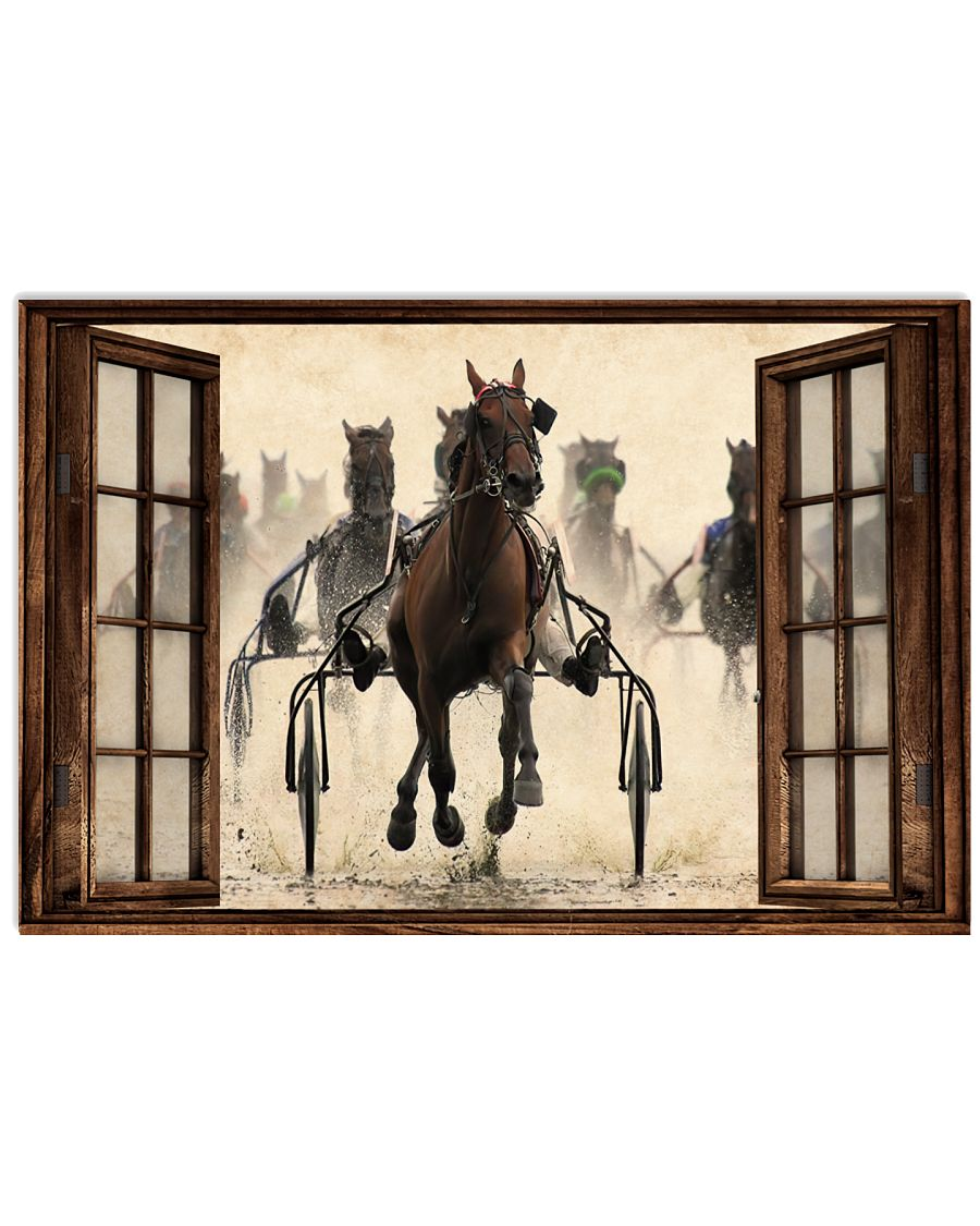 Harness Racing Window Poster