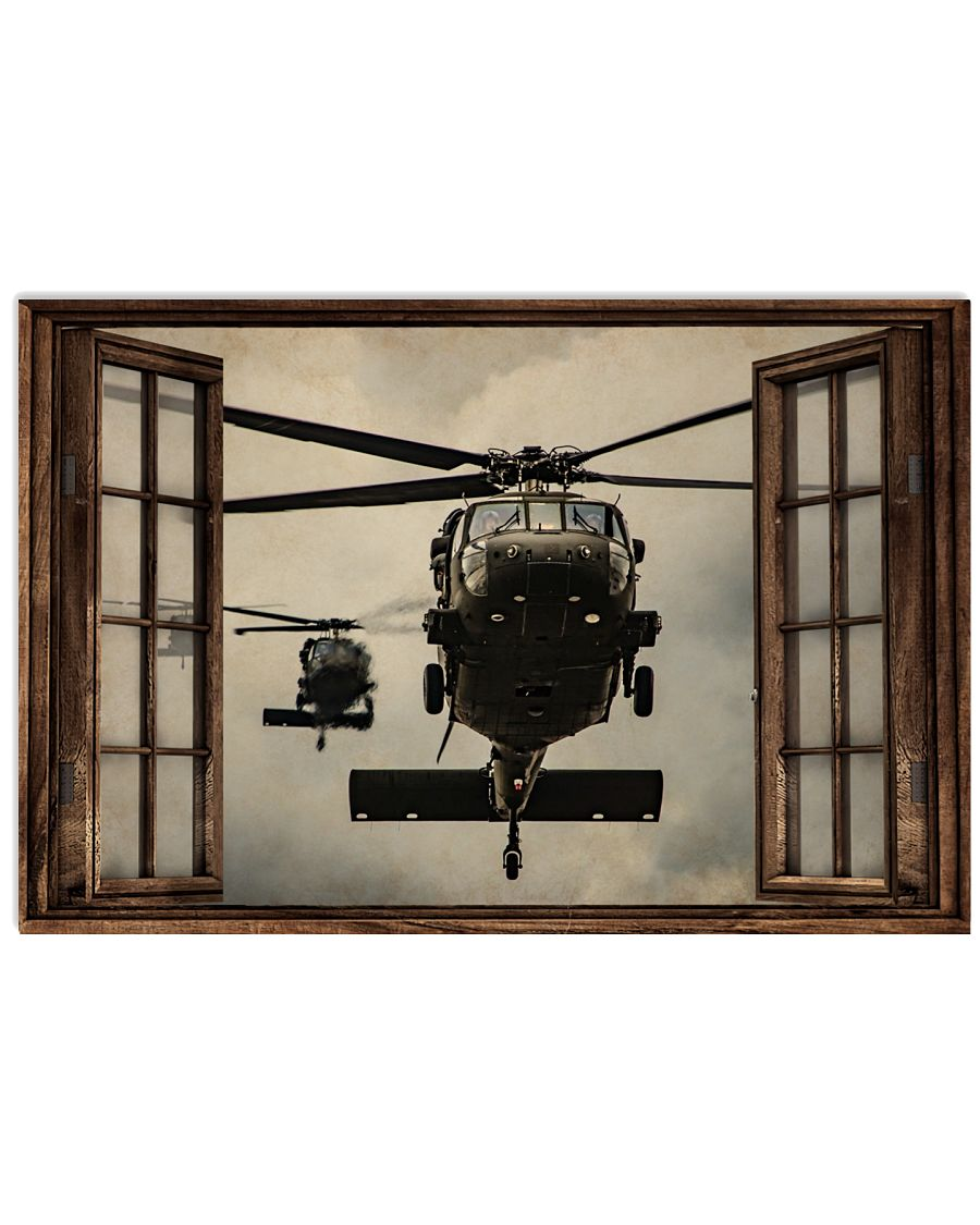 Helicopter Window Poster