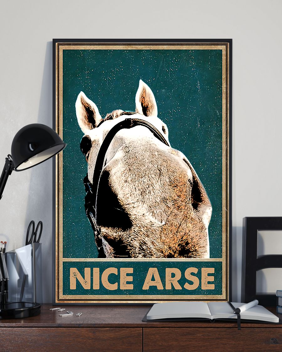 Horse Nice Arse Poster