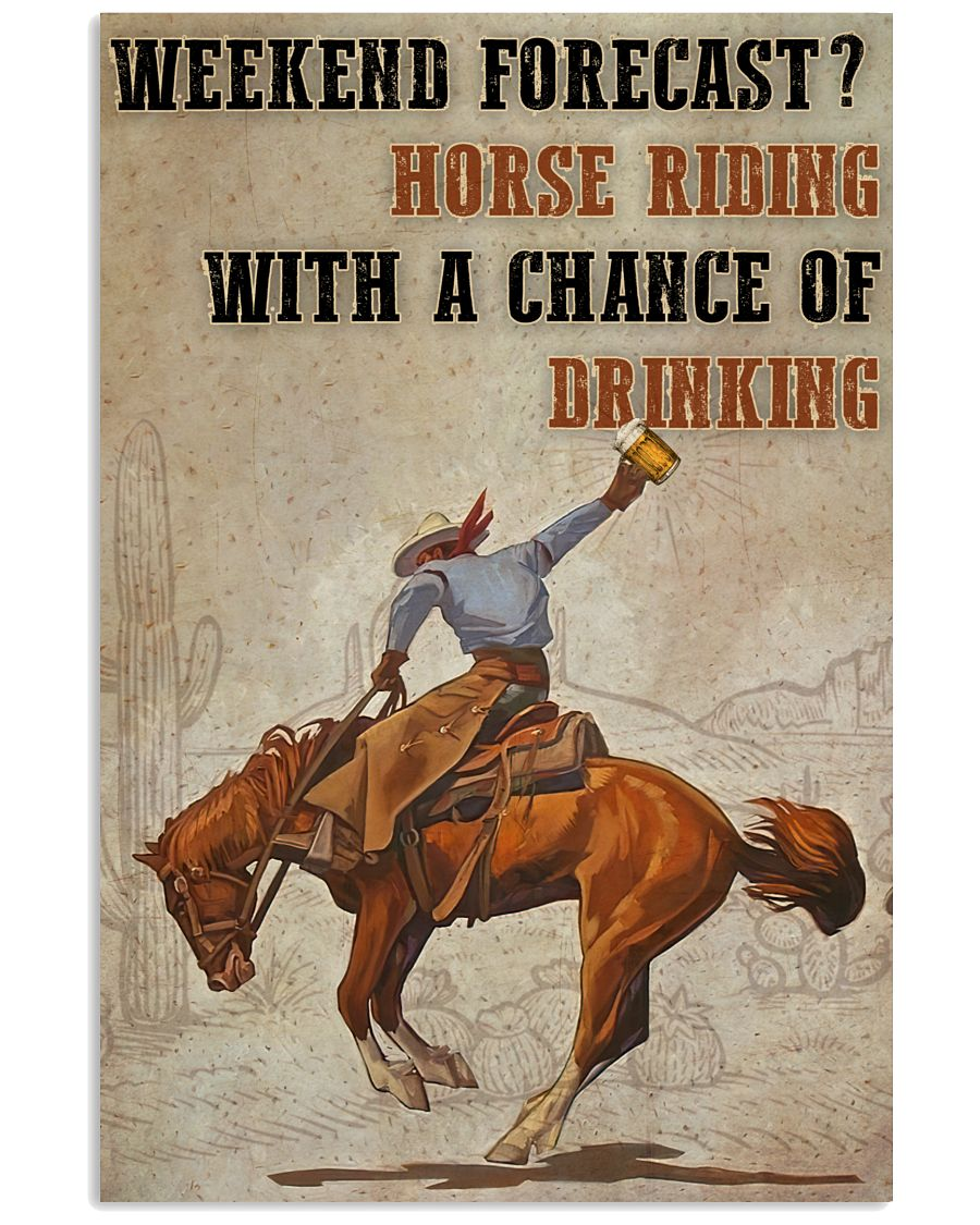 Horse Riding Weekend Forecast Poster