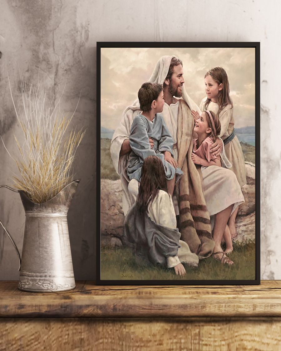 Jesus Let the little children come to me, and do not hinder them posterc
