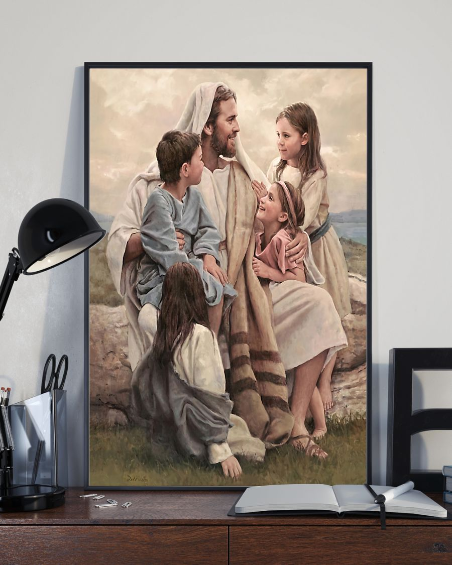 Jesus Let the little children come to me, and do not hinder them posterx