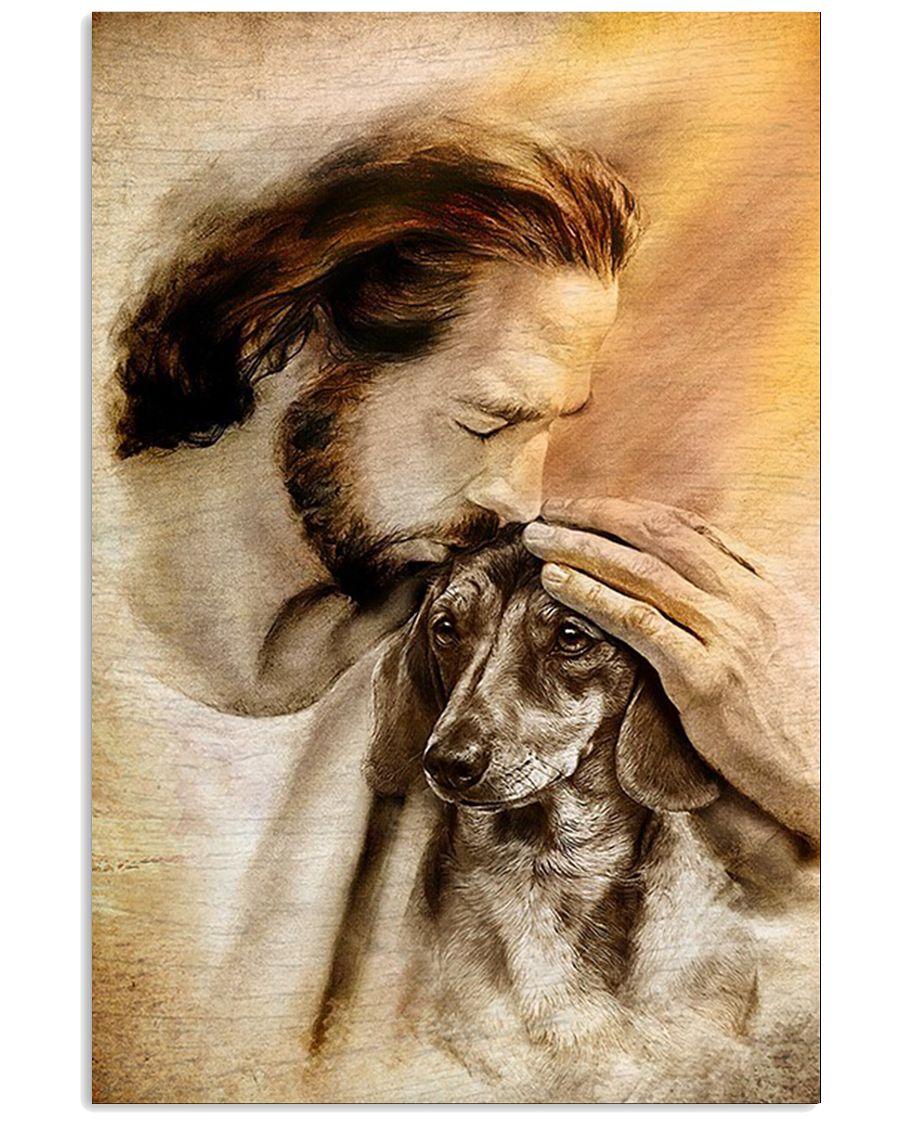 Jesus With Lovely Dachshund Poster