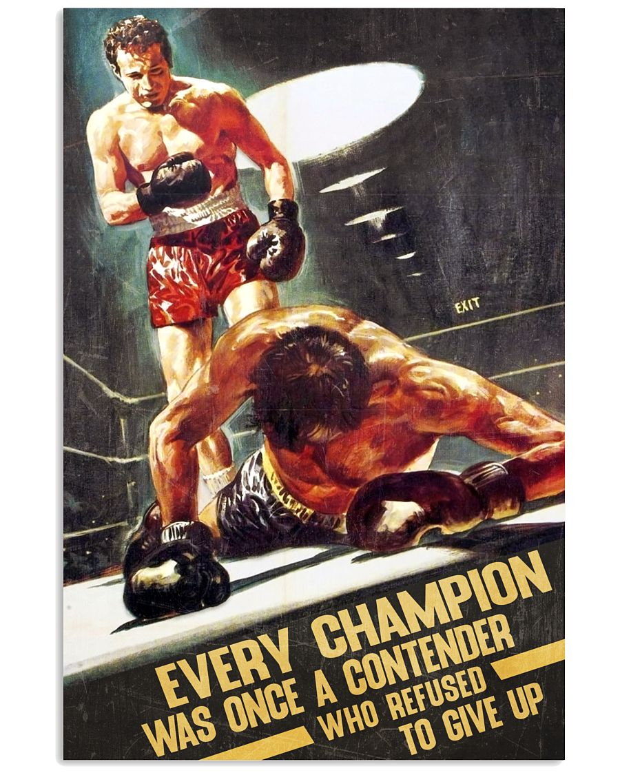 MMA Every Champion Was Once A Contender Who Refused To Give Up Poster