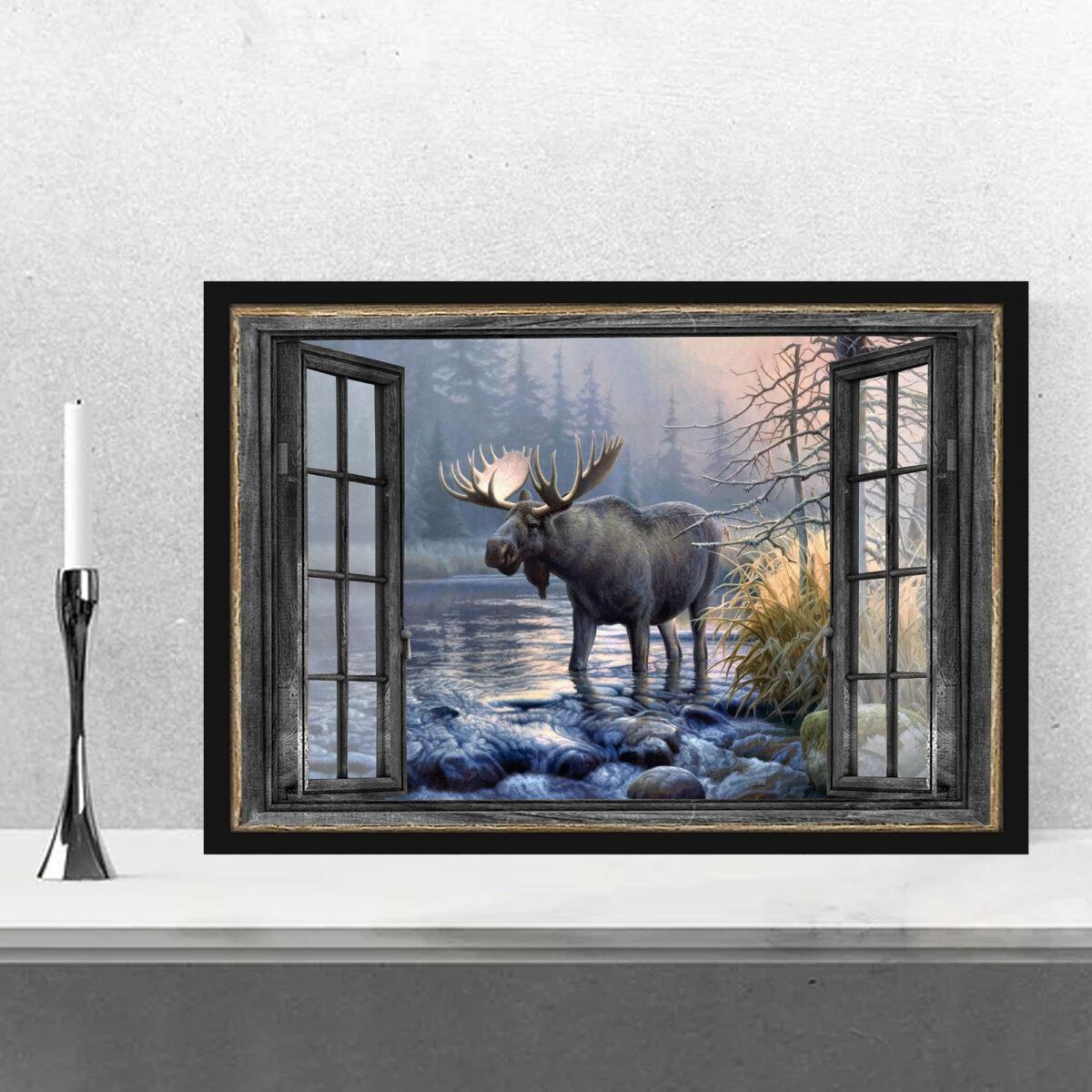 Moose Window Art Posterc