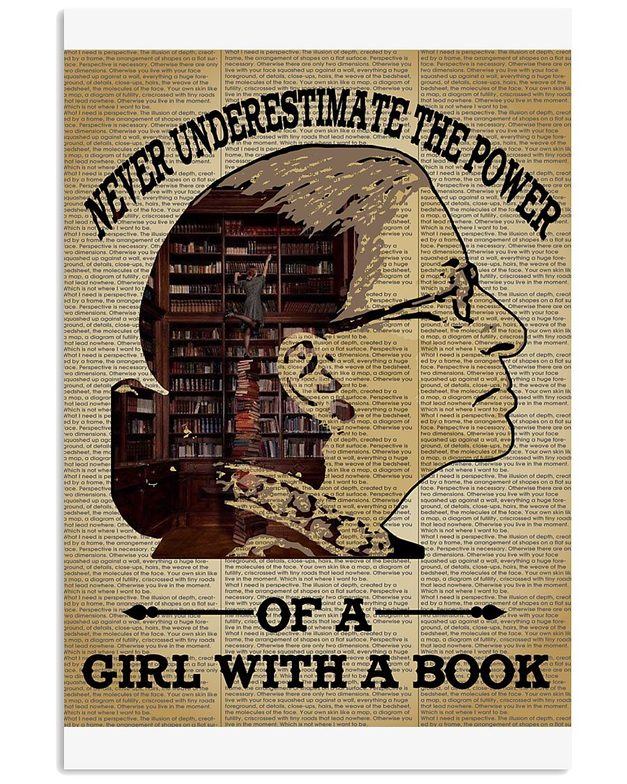 Never Underestimate The Power Of Girl With A Book Poster