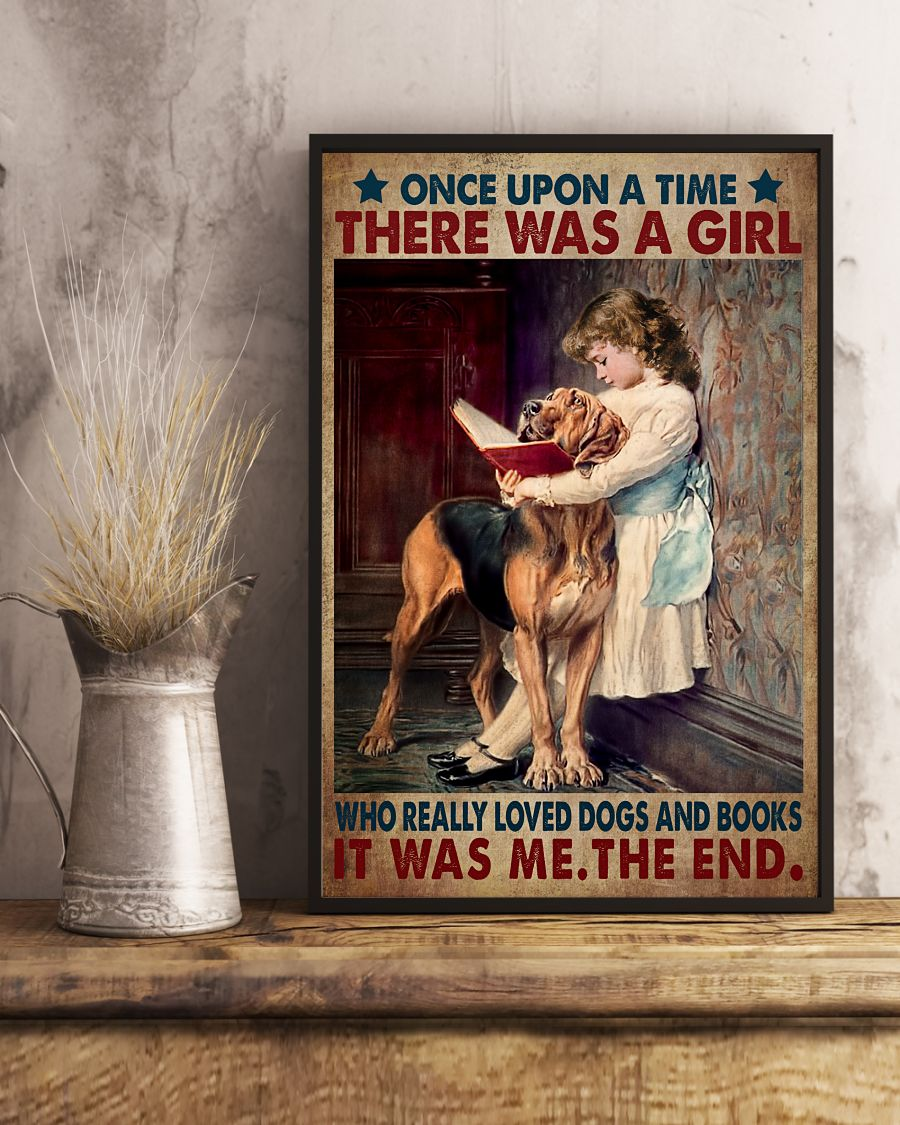 Once Upon A Time There Was A Girl Who Really Like Dogs And Read Books Posterx