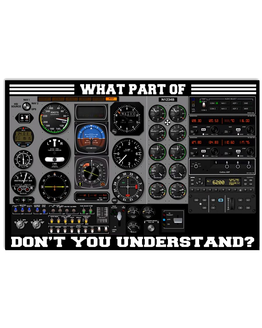 Pilot Cockpit What Part Of Don't You Understand Poster