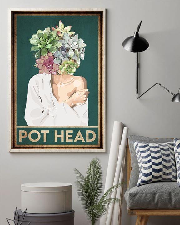 Pot Head Succulent Head Girl Poster