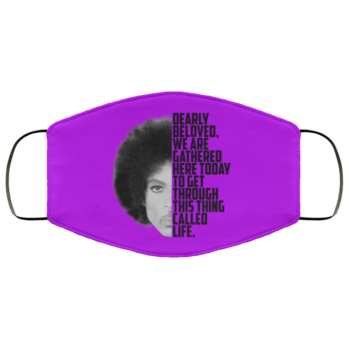 Prince Rogers Dearly beloved purple Face Mask