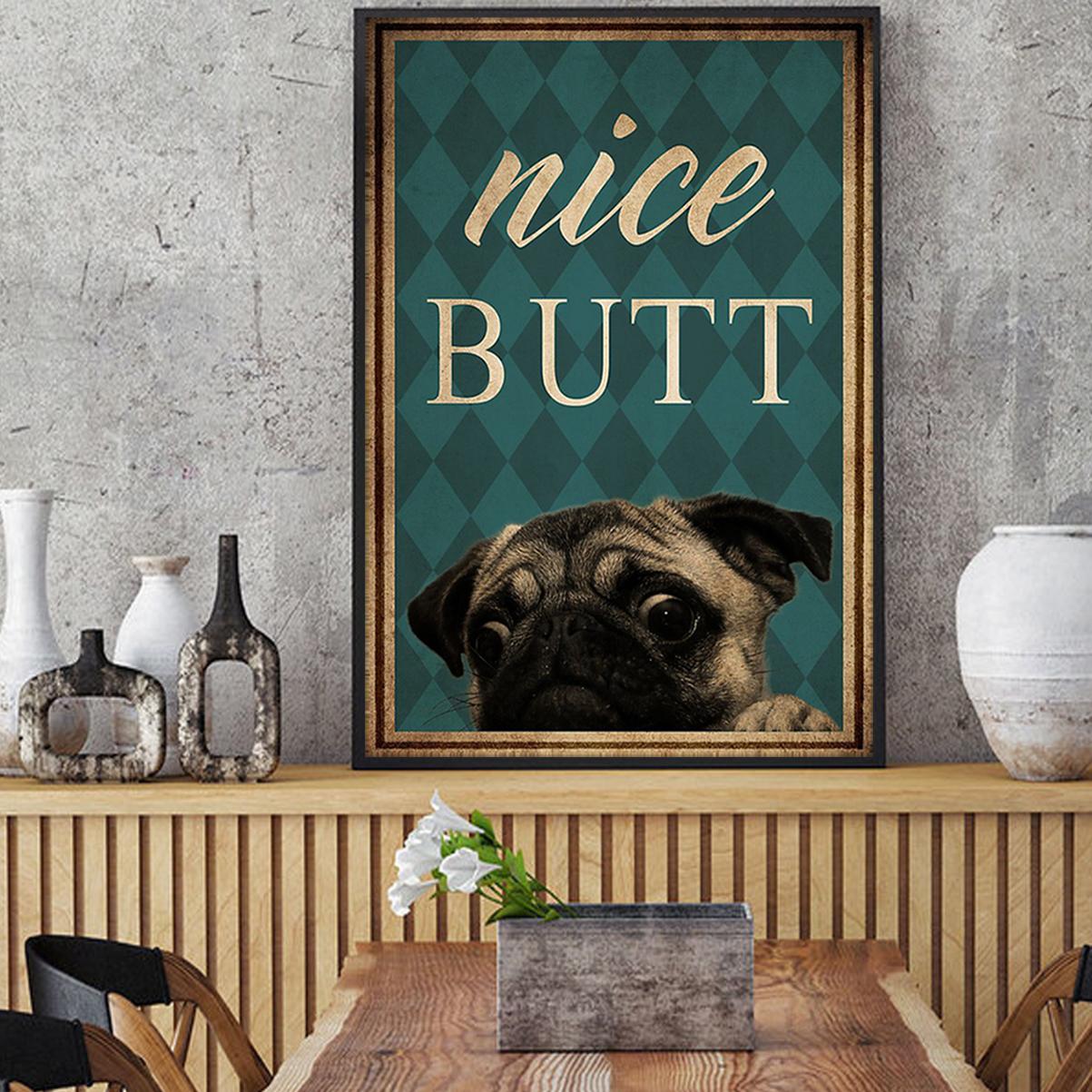Pug nice butt poster