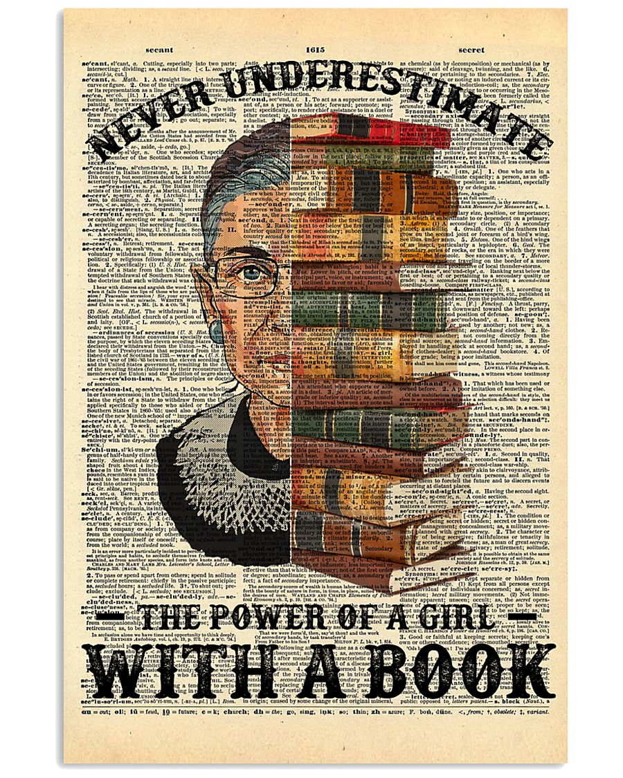 RBG Never Underestimate The Power Of A Girl With A Book Poster