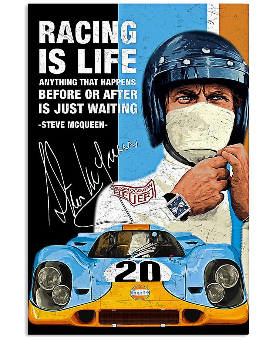 3D Racing Is Life Anything That Happens Before Or After Is Just Waiting Steve McQueen Poster