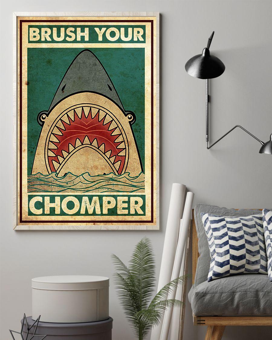 Shark Brush Your Chomper Posterz
